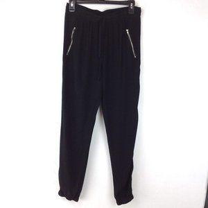 Black Harlowe & Graham loose fit pants